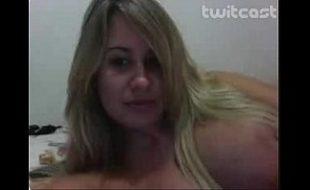 Ninfeta em sua webcam dando um show para mim