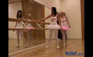 Bailarinas transando para aliviar o cansaço